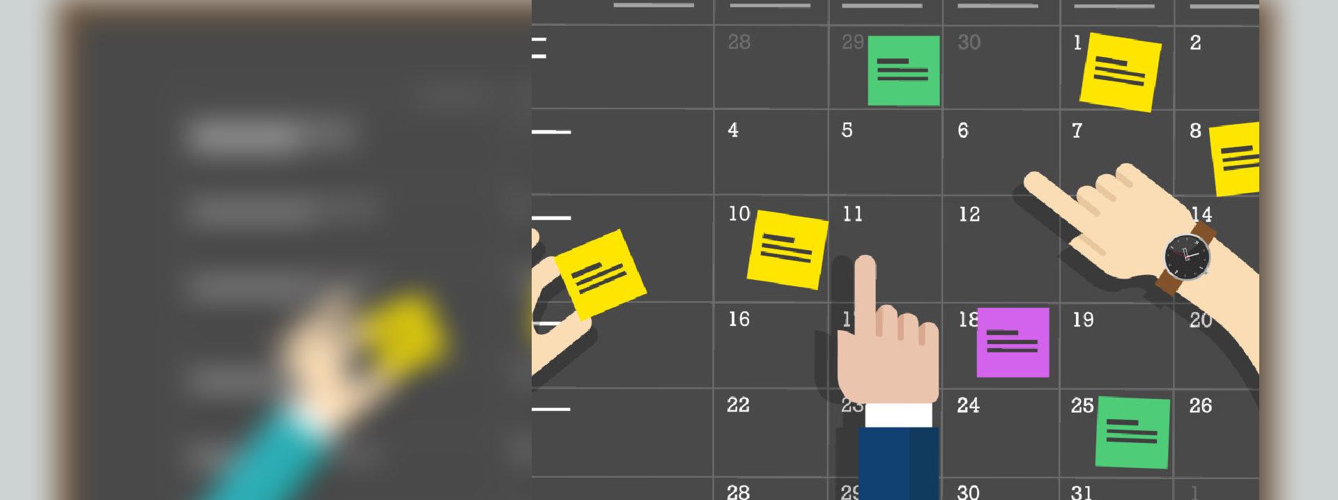 Calendar schedule board